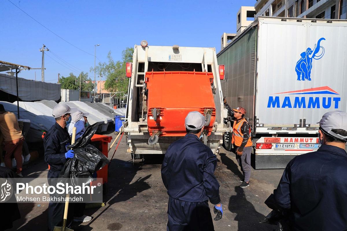 شهری / تنظیف خیابان های نجف اشرف توسط پاکبانان مشهدی به مناسبت اربعین حسینی + گزارش تصویری